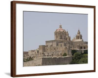 Metropolitan Cathedral in Mdina, the Fortress City, Malta, Europe-Robert Harding-Framed Photographic Print
