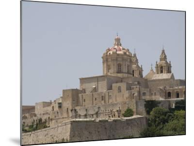 Metropolitan Cathedral in Mdina, the Fortress City, Malta, Europe-Robert Harding-Mounted Photographic Print