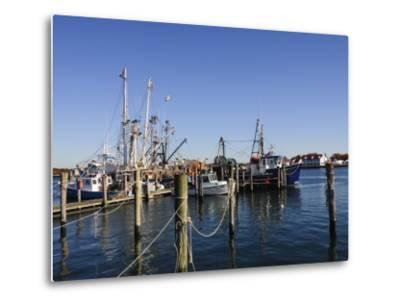 Montauk Harbour, Montauk, Long Island, New York State, United States of America, North America-Robert Harding-Metal Print