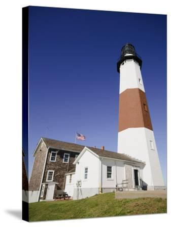 Montauk Point Lighthouse, Montauk, Long Island, New York State, USA-Robert Harding-Stretched Canvas Print