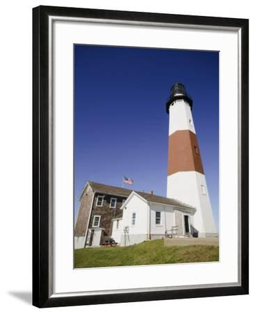 Montauk Point Lighthouse, Montauk, Long Island, New York State, USA-Robert Harding-Framed Photographic Print