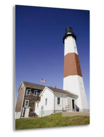 Montauk Point Lighthouse, Montauk, Long Island, New York State, USA-Robert Harding-Metal Print