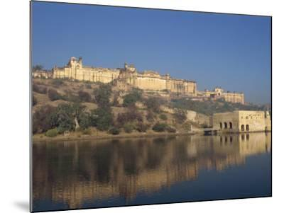 Amber Palace and Fort, Built in 1592, from Moata Sagar, Jaipur, Rajasthan State, India-Robert Harding-Mounted Photographic Print