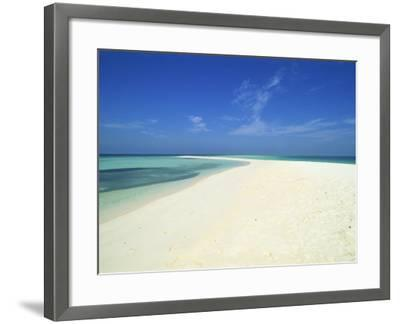 Empty Tropical Beach in the Maldive Islands, Indian Ocean-Harding Robert-Framed Photographic Print