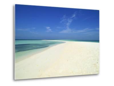 Empty Tropical Beach in the Maldive Islands, Indian Ocean-Harding Robert-Metal Print