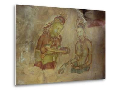 Cloud Maidens, Sigiriya, Sri Lanka-Harding Robert-Metal Print