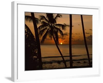 Beach at Sunset, Barbados, West Indies, Caribbean, Central America-Harding Robert-Framed Photographic Print