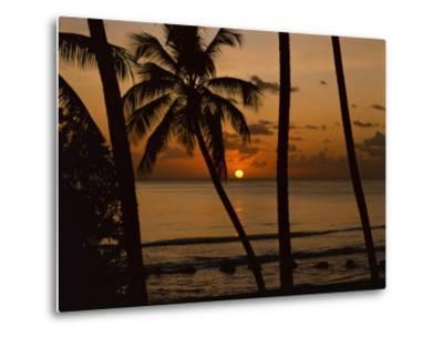 Beach at Sunset, Barbados, West Indies, Caribbean, Central America-Harding Robert-Metal Print