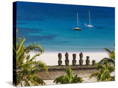 Anakena Beach, Rapa Nui, Chile-Gavin Hellier-Stretched Canvas Print