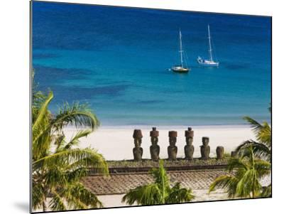 Anakena Beach, Rapa Nui, Chile-Gavin Hellier-Mounted Photographic Print