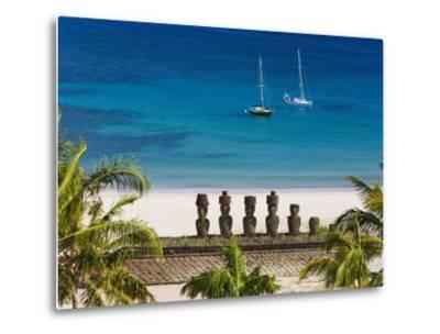 Anakena Beach, Rapa Nui, Chile-Gavin Hellier-Metal Print
