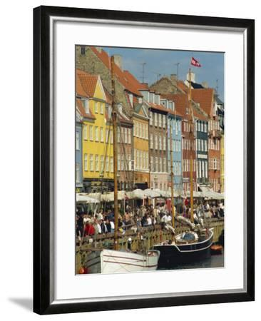 Busy Restaurant Area, Nyhavn, Copenhagen, Denmark, Scandinavia, Europe-Harding Robert-Framed Photographic Print