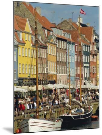 Busy Restaurant Area, Nyhavn, Copenhagen, Denmark, Scandinavia, Europe-Harding Robert-Mounted Photographic Print