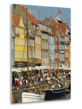 Busy Restaurant Area, Nyhavn, Copenhagen, Denmark, Scandinavia, Europe-Harding Robert-Metal Print