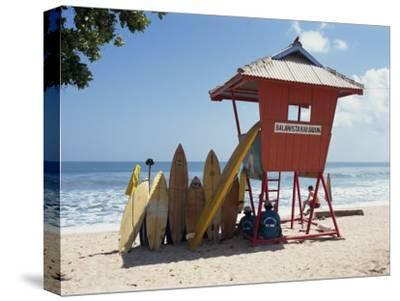 Surfboards Stacked Waiting for Hire at Kuta Beach on the Island of Bali, Indonesia, Southeast Asia-Harding Robert-Stretched Canvas Print