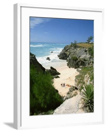 South Coast Beach, Bermuda, Central America, Mid Atlantic-Harding Robert-Framed Photographic Print