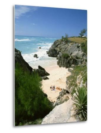 South Coast Beach, Bermuda, Central America, Mid Atlantic-Harding Robert-Metal Print
