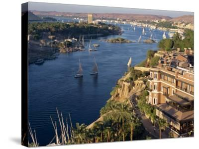 View from the New Cataract Hotel of the River Nile at Aswan, Egypt, North Africa, Africa-Harding Robert-Stretched Canvas Print