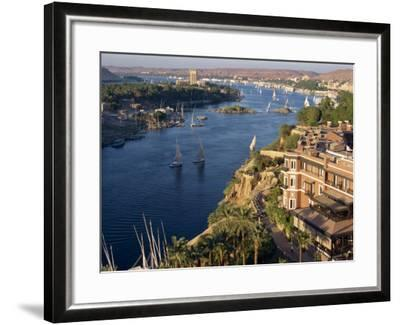 View from the New Cataract Hotel of the River Nile at Aswan, Egypt, North Africa, Africa-Harding Robert-Framed Photographic Print