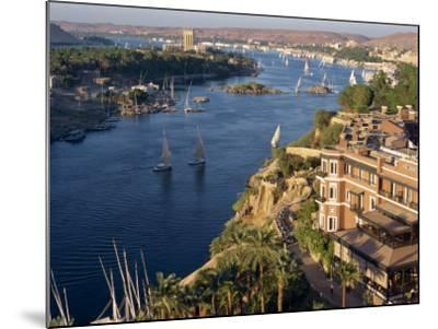 View from the New Cataract Hotel of the River Nile at Aswan, Egypt, North Africa, Africa-Harding Robert-Mounted Photographic Print