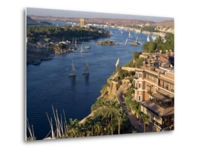 View from the New Cataract Hotel of the River Nile at Aswan, Egypt, North Africa, Africa-Harding Robert-Metal Print