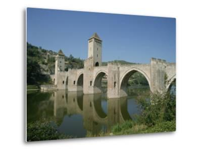 Cahors, in the Dordogne Lot Valley, Midi Pyrenees, France-Harding Robert-Metal Print