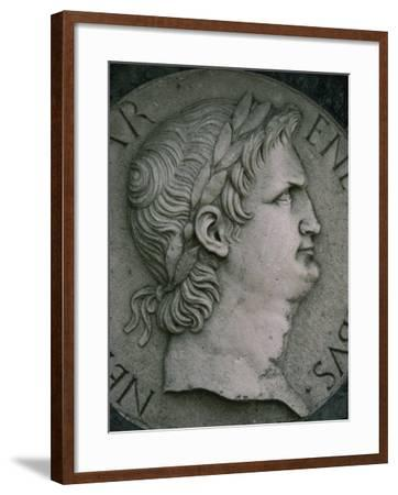 Emperor Nero in Marble, Certosa Di Pavia, Lombardy, Italy, Europe-Hart Kim-Framed Photographic Print