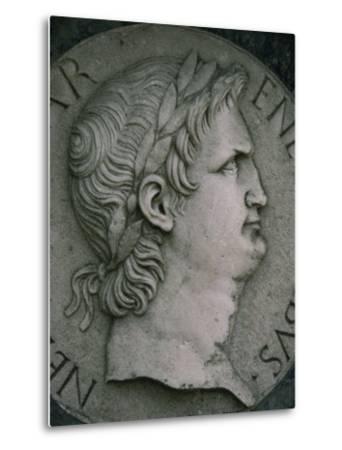 Emperor Nero in Marble, Certosa Di Pavia, Lombardy, Italy, Europe-Hart Kim-Metal Print