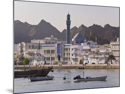 View Along the Corniche, Latticed Houses and Mutrah Mosque, Mutrah, Muscat, Oman, Middle East-Gavin Hellier-Mounted Photographic Print