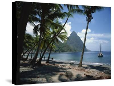 Pitons, St. Lucia, Windward Islands, West Indies, Caribbean, Central America-Harding Robert-Stretched Canvas Print