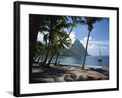 Pitons, St. Lucia, Windward Islands, West Indies, Caribbean, Central America-Harding Robert-Framed Photographic Print