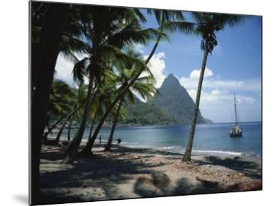 Pitons, St. Lucia, Windward Islands, West Indies, Caribbean, Central America-Harding Robert-Mounted Photographic Print