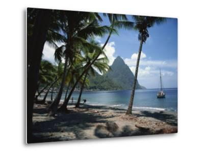 Pitons, St. Lucia, Windward Islands, West Indies, Caribbean, Central America-Harding Robert-Metal Print