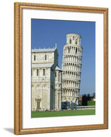 Duomo and the Leaning Tower in the Campo Dei Miracoli, Pisa, Tuscany, Italy-Gavin Hellier-Framed Photographic Print