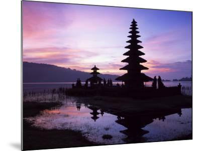Reflections of the Candikuning Temple in the Water of Lake Bratan, Bali, Indonesia, Southeast Asia-Gavin Hellier-Mounted Photographic Print