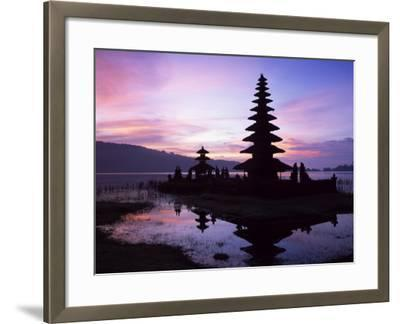 Reflections of the Candikuning Temple in the Water of Lake Bratan, Bali, Indonesia, Southeast Asia-Gavin Hellier-Framed Photographic Print