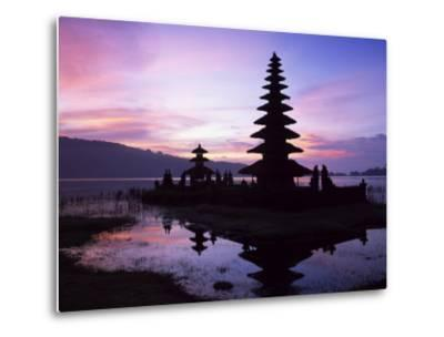 Reflections of the Candikuning Temple in the Water of Lake Bratan, Bali, Indonesia, Southeast Asia-Gavin Hellier-Metal Print