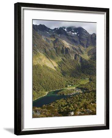 Lake Mackenzie on the Routeburn Track, Fiordland National Park, South Island, New Zealand-Kober Christian-Framed Photographic Print