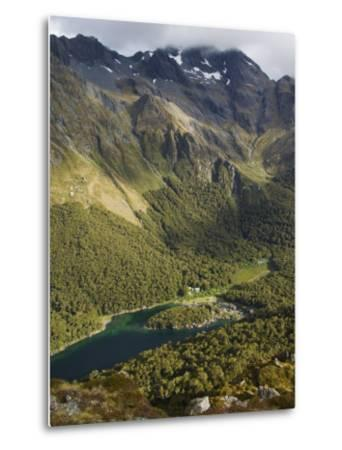 Lake Mackenzie on the Routeburn Track, Fiordland National Park, South Island, New Zealand-Kober Christian-Metal Print