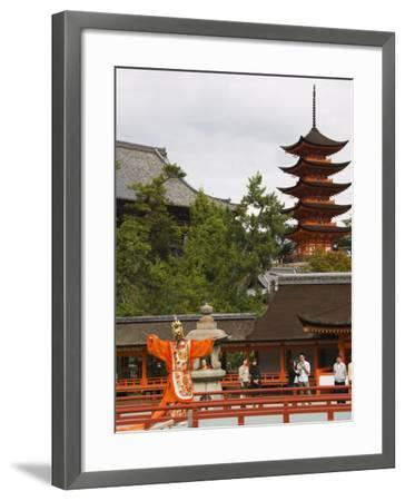 Senjokaku 5 Story Pagoda at Itsukushima Shrine, Miyajima Island, Honshu Island, Japan-Kober Christian-Framed Photographic Print