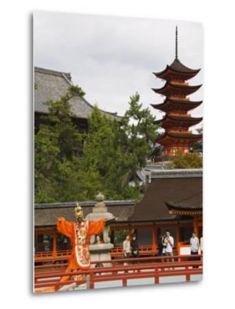 Senjokaku 5 Story Pagoda at Itsukushima Shrine, Miyajima Island, Honshu Island, Japan-Kober Christian-Metal Print