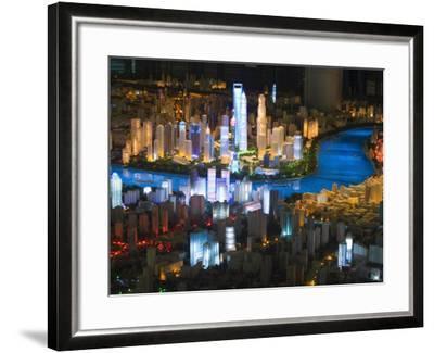 Shanghai of the Future, Shanghai Urban Planning and Expo 2010 Exhibition Hall, Shanghai, China-Kober Christian-Framed Photographic Print