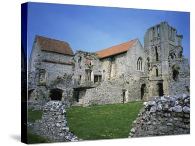 Priors Chapel and Tower from Cloister, Castle Acre Priory, Norfolk, England, United Kingdom, Europe-Hunter David-Stretched Canvas Print