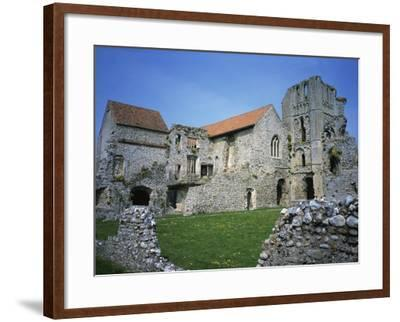 Priors Chapel and Tower from Cloister, Castle Acre Priory, Norfolk, England, United Kingdom, Europe-Hunter David-Framed Photographic Print