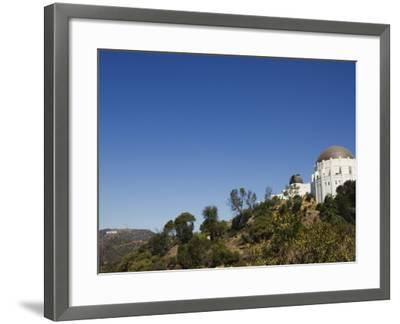 Griffiths Observatory and Hollywood Sign in Distance, Los Angeles, California, USA-Kober Christian-Framed Photographic Print