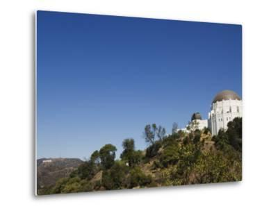 Griffiths Observatory and Hollywood Sign in Distance, Los Angeles, California, USA-Kober Christian-Metal Print