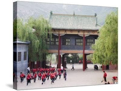 Shaolin Monastery, Shaolin, Birthplace of Kung Fu Martial Art, Henan Province, China-Kober Christian-Stretched Canvas Print