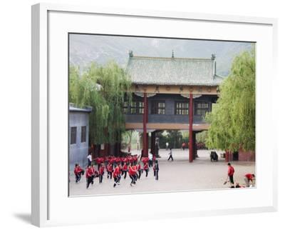 Shaolin Monastery, Shaolin, Birthplace of Kung Fu Martial Art, Henan Province, China-Kober Christian-Framed Photographic Print