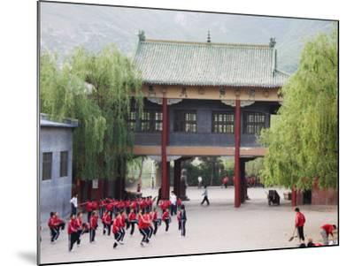 Shaolin Monastery, Shaolin, Birthplace of Kung Fu Martial Art, Henan Province, China-Kober Christian-Mounted Photographic Print