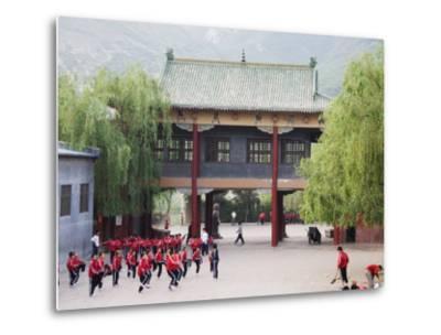 Shaolin Monastery, Shaolin, Birthplace of Kung Fu Martial Art, Henan Province, China-Kober Christian-Metal Print